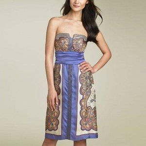 Nicole Miller Strapless Silk Dress 2